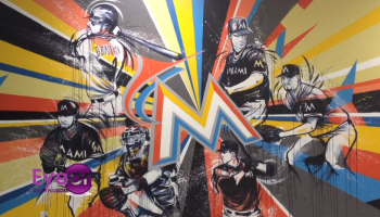 Ruben Ubiera Creates Miami Marlins Mural In Pembroke Pines