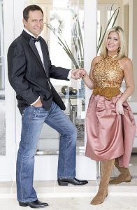 Emily Pantelides and Peter Robbins, co-chairs of the Cowboy Ball
