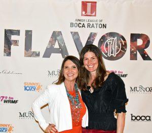Writer Lisa Sussman with Junior League President Kirsten Stanley